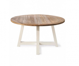 Stół Okrągły Canyamel Dining Table 140 cm diameter, white legs