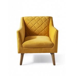Fotel Contessa Armchair, velvet, yellow