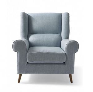 Fotel Delano Wing Chair, linen , morning sky blue