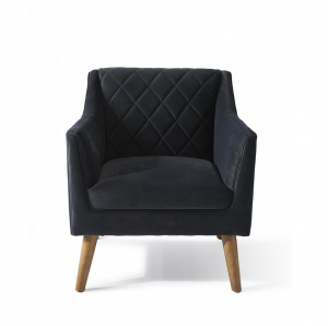 Fotel Contessa Armchair, velvet, midnight grey