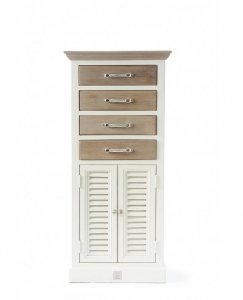 Komoda Long Key Chest with Drawer and Doors
