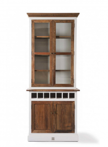 Kredens Driftwood Cabinet with winerack single