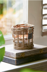Lampion Rustic Rattan Votive Square Weave