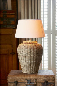 Lampa Rustic Rattan Grand Lobby Lamp Base L