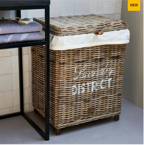 Kosz na pranie Rustic Rattan Laundry District Basket