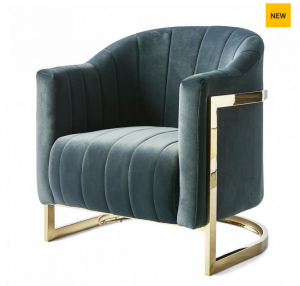 Fotel Elysee Armchair, velvet, midnight grey