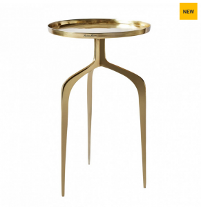 Stolik Faubourg End Table gold 42 cm. dia