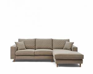 Narożnik Kendall Sofa with Chaise Longue Right, washed cotton, stone