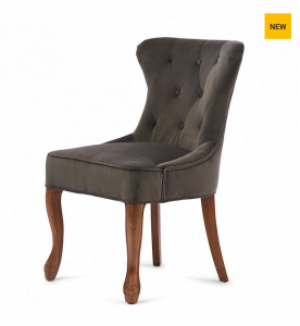 Krzesło George Dining Chair, velvet, slate grey
