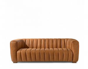 Sofa Pulitzer3,5 Seater, leather, cognac