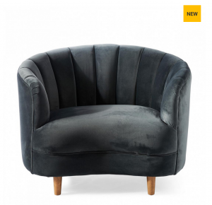 Fotel Beverly Hills Loveseat, velvet, midnight grey