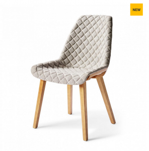 Krzesło Amsterdam City Dining Chair, mouliné linen, elephant grey