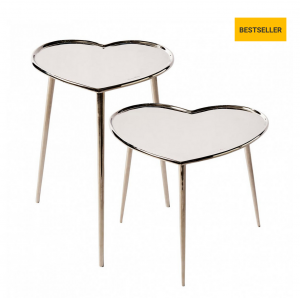 Stoliki Lovely Heart End Table S2