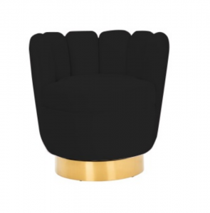 Fotel Mayfair Black velvet / gold