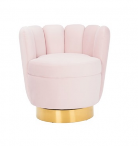 Fotel Mayfair Pink velvet / gold