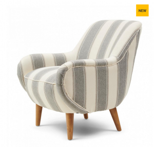 Fotel Harper Armchair Grey Stripe