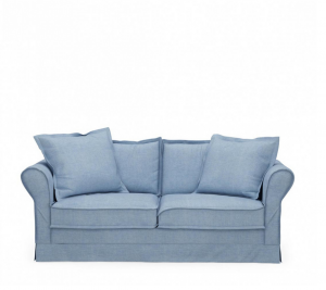 Sofa Carlton 2,5 Seater, washed cotton, ice blue