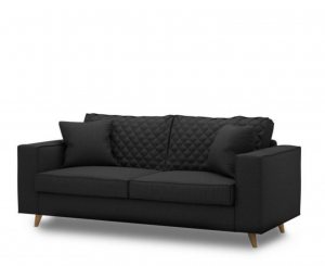 Sofa Kendall 2,5 Seater, oxford weave, basic black