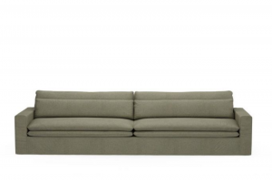 Sofa Continental XL, oxford weave, forest green