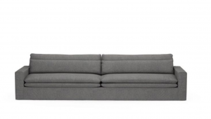 Sofa Continental XL, oxford weave, classic charcoal