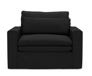 Fotel Continental Love Seat, oxford weave, basic black
