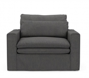 Fotel Continental Love Seat, oxford weave, classic charcoal