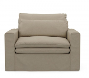 Fotel Continental Love Seat, oxford weave, flanders flax
