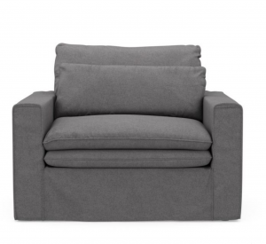 Fotel Continental Love Seat, oxford weave, steel grey