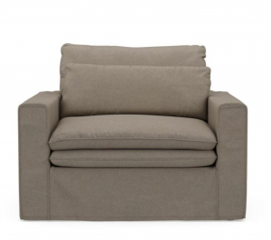 Fotel Continental Love Seat, oxford weave, anvers flax