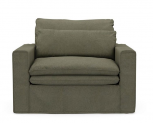 Fotel Continental Love Seat, oxford weave, forest green