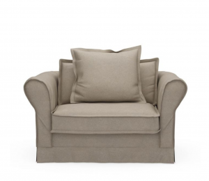Fotel Carlton Love Seat, oxford weave, anvers flax