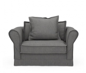 Fotel Carlton Love Seat, oxford weave, classic charcoal