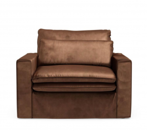 Fotel Continental Love Seat, velvet, chocolate