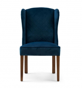 Krzesło William Dining Chair, velvet, ocean blue