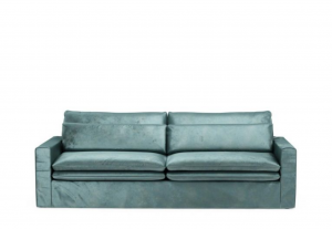 Sofa Continental 3,5 Seater, velvet, mineral blue