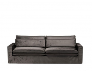Sofa Continental 3,5 Seater, velvet, grimaldi grey