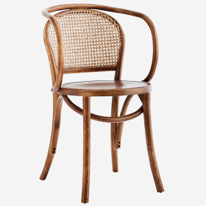 Krzesło  Wooden chair w/ armrest and rattan
