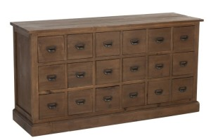 Komoda Commode 18 Drawers Wood Brown