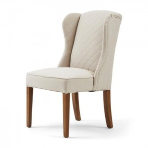 Krzesło William Dining Chair, oxford weave, flanders flax