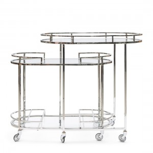 Barek Crosby Street Bar Cart S/2
