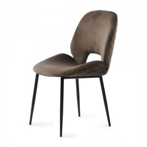 Krzesło Mr. Beekman Dining Chair, velvet III, anthracite