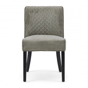 Krzesło Bridge Lane Dining Chair Diamond Stitch, italian rib, mouse