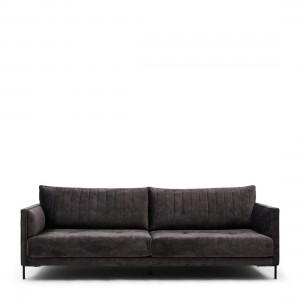 Sofa Bal Harbour Sofa 3,5 Seater, velvet, grimaldi grey