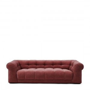 Sofa Cobble Hill Sofa 3,5 Seater, velvet III, misty rose