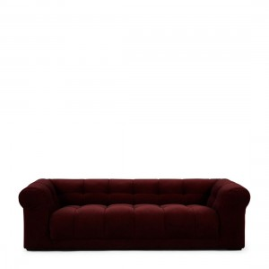 Sofa Cobble Hill Sofa 3,5 Seater, velvet III, burgundy