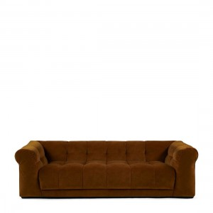 Sofa Cobble Hill Sofa 3,5 Seater, velvet III, golden brown