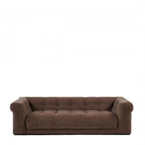 Sofa Cobble Hill Sofa 3,5 Seater, velvet III, treasure taupe