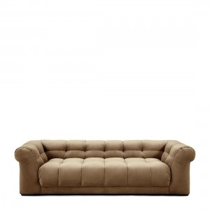 Sofa Cobble Hill Sofa 3,5 Seater, velvet, golden beige