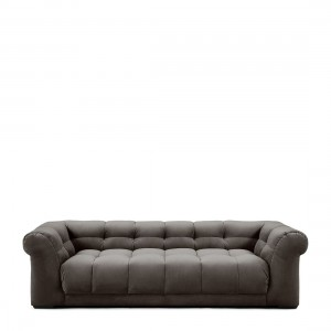 Sofa Cobble Hill Sofa 3,5 Seater, velvet, grimaldi grey