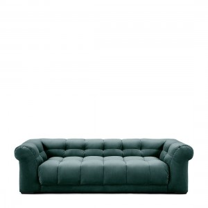 Sofa Cobble Hill Sofa 3,5 Seater, velvet, mineral blue